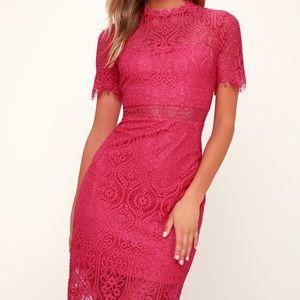 Lulu's Remarkable Dress in Fuchsia (Never Worn!)